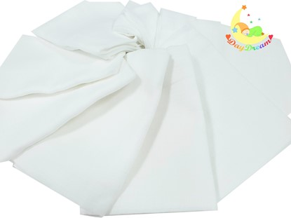 Picture of Children nappy 100% cotton - 10 pcs set - White 110g