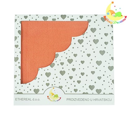 Picture of Bamboo knitted blanket 100x80cm - light - Orange