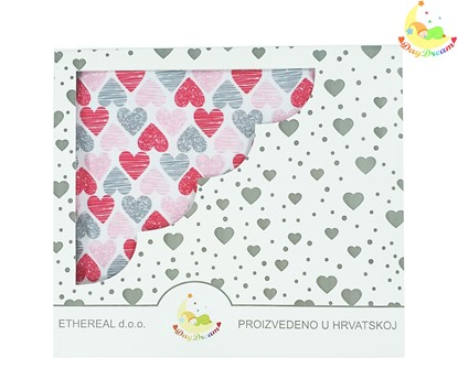 Picture of Cotton blanket - Red hearts