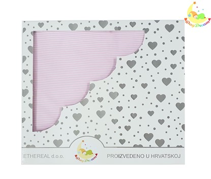 Picture of Cotton blanket - Pink stripes