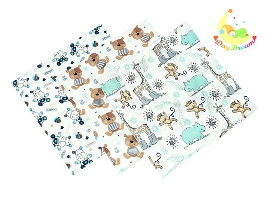 Picture of Bamboo tetra wash clothes  - Teddy and Hippo