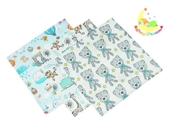 Picture of Bamboo tetra wash clothes  - Giraffe and Elephant