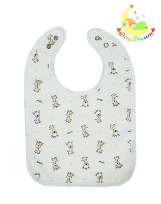 Picture of Baby bib with waterproof lining  - Giraffe