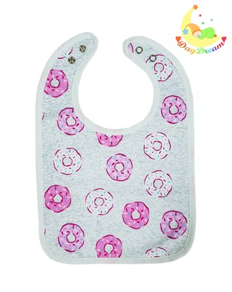 Picture of Baby bib with waterproof lining  - Donuts