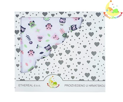 Picture of Premiun cotton blanket - Owls pink
