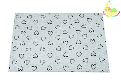 Picture of Baby cushion - 60cm - 15° - Grey hearts - premium