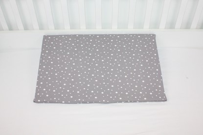 Picture of Pillow case for baby cushion - 60cm - 15° - Grey stars