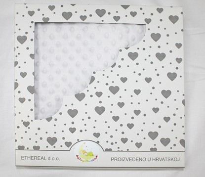 Picture of Minky blanket - White 120x100