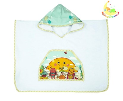 Picture of Bamboo baby poncho - Sun - from 3 to 6 years
