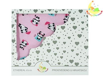 Picture of Cotton blanket - Pandas