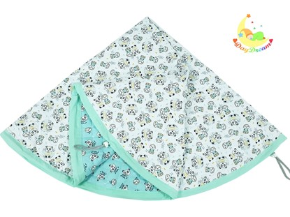 Picture of Baby play mats and toy bag 2 in 1 - Green pandas