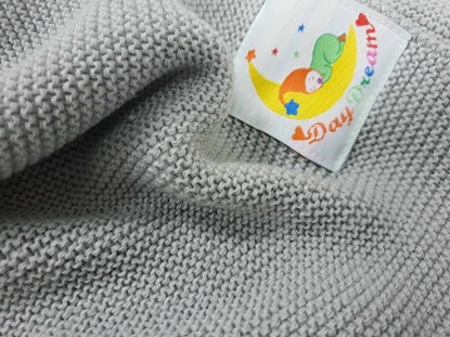 Picture of Merino knitted blanket 100x80cm - Grey