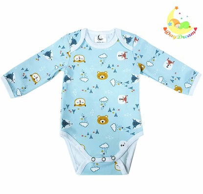Picture of Baby body long sleeve - Blue teddy