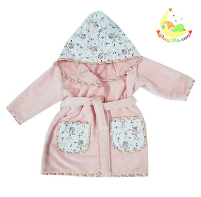 Picture of Baby bathrobe - 110/116 - Ballerinas - Pink