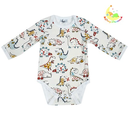 Picture of Baby body long sleeve - Beige dino