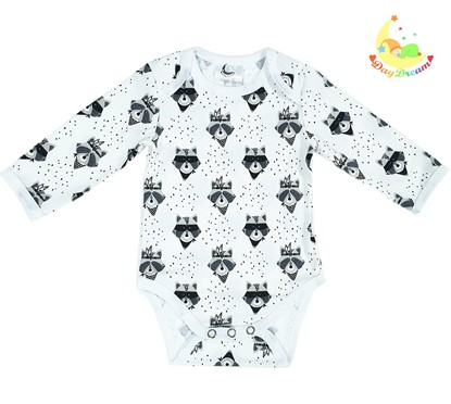 Picture of Baby body long sleeve - Raccoon