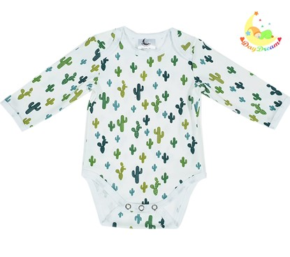 Picture of Baby body long sleeve - Green cactuses