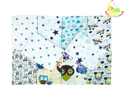 Picture of Children nappy 100% cotton - 10 pcs set - for boys