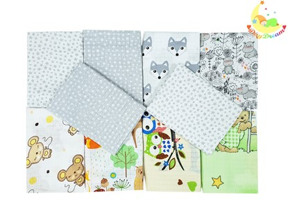 Picture of Children nappy 100% cotton - 10 pcs set - neutral