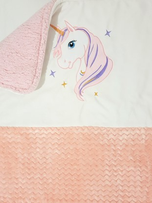 Picture of Warm three layer blanket  -  100 x 80 cm Unicorn