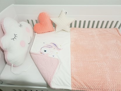 Picture of Warm three layer blanket  -  120 x 100 cm - Unicorn