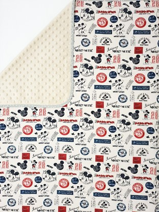Picture of Premium cotton minky blanket 100x80 - Mickey Mouse - beige