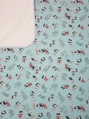 Picture of Premium cotton minky blanket 100x80 - Mickey Mouse - blue+white