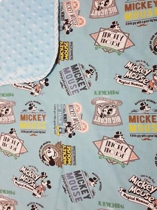 Picture of Premium cotton minky blanket 100x80 - Mickey Mouse - blue+blue