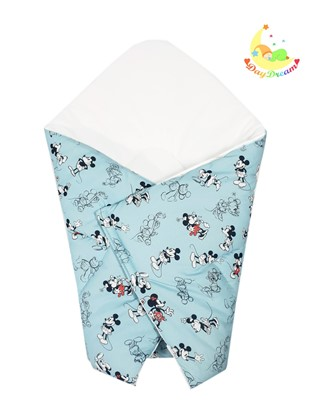 Picture of Cotton  carrier  blankets 2 in 1 Disney - Mickey Mouse - blue