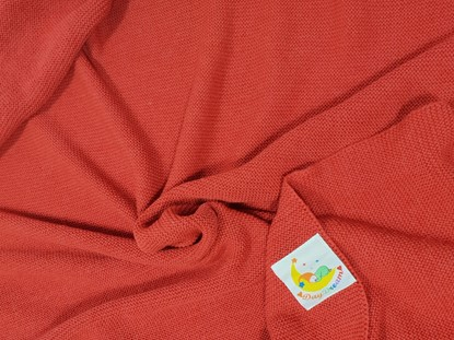 Picture of Merino knitted blanket 100x80cm - Red