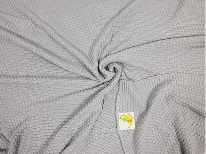 Picture of Bamboo knitted blanket 120x100cm - Grey