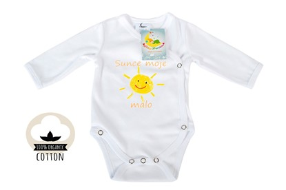 Picture of Side snap baby body - Organic cotton - My little sun