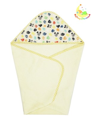 Picture of Cotton hooded towel - 100 x 100 cm - Yellow