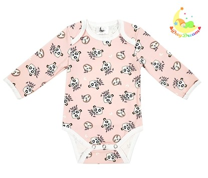 Picture of Baby body long sleeve - Small panadas rose