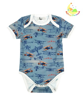 Picture of Baby body short sleeves - Airplanes