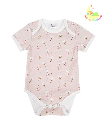 Picture of Baby body short sleeves - Cotton flower
