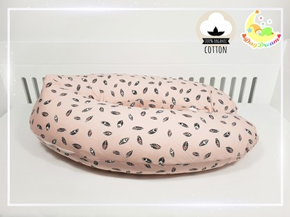 Picture of Nursing pillow - Premium -  Pink leaves