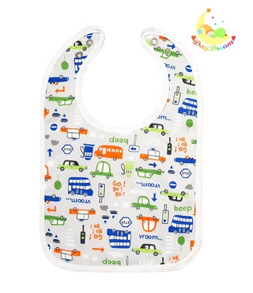 Picture of Baby bib with waterproof lining  - Beep beep