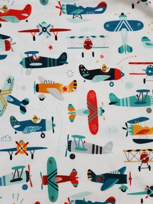 Picture of Baby scarf bib - Airplanes 2