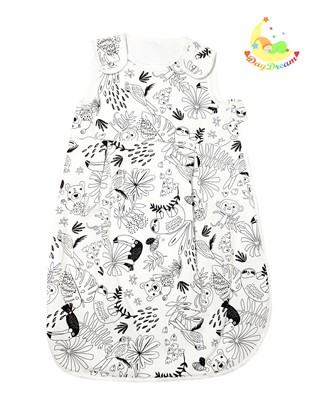 Picture of Sleeping bag - Jungle - black and white - 100cm