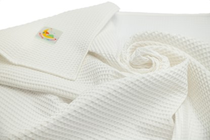 Picture of Waffle blanket 100x80 - White
