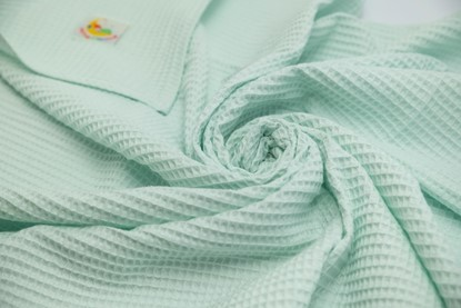 Picture of Waffle blanket 100x80 - Mint