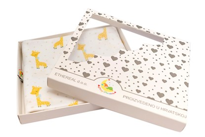 Picture of Premium cotton blanket with digital print - Tiny giraffes