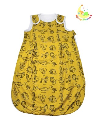 Picture of Sleeping bag - Animals - mustard yellow - 80cm