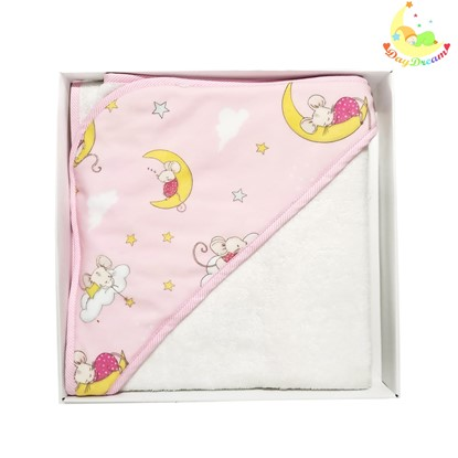 Picture of Bamboo hooded towel - Lady mouse 90x90cm