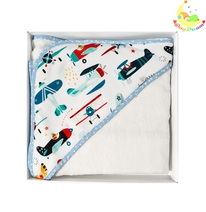 Picture of Bamboo hooded towel - Airplanes 90x90cm