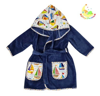 Picture of Baby bathrobe - 110/116 - Blue
