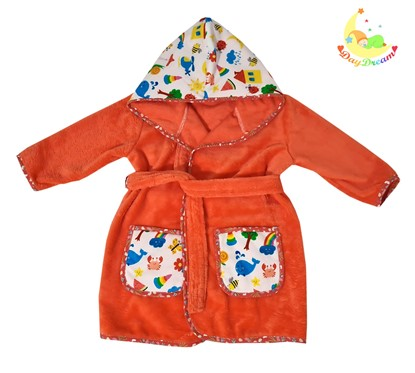 Picture of Baby bathrobe - 110/116 - Red