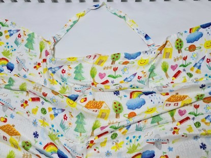 Picture of Bamboo nursing scarf - Kids drawing