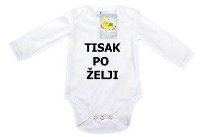 Picture of Baby body long sleeves - Organic cotton - Print as desired